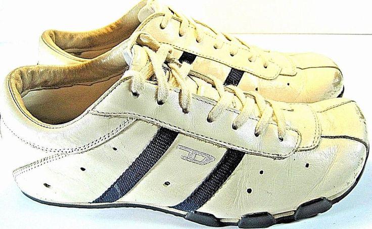 Diesel Women Athletic Vtg Training Shoes Size 7.5 White Style 1617163.  JJJ 45 #DIESEL #Tennis