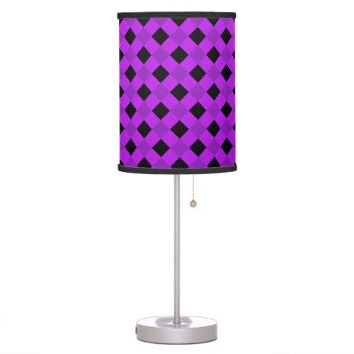 Plaid 1 Purple Desk Lamp
