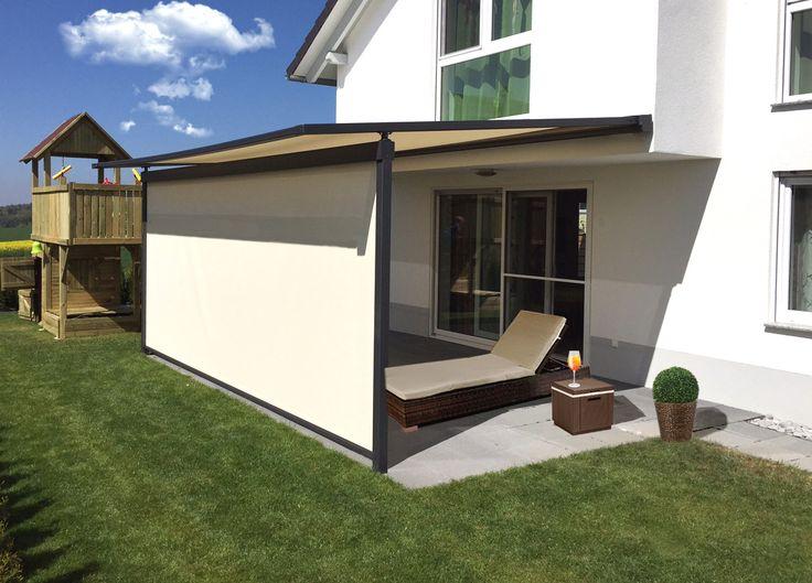 Pergolamarkise Typ PergolinoS mit integrierter Senkrechtmarkise  www.scaffidi.de #Sonnenschutz#Schattenspender#Design#Architektur#scaffidi#