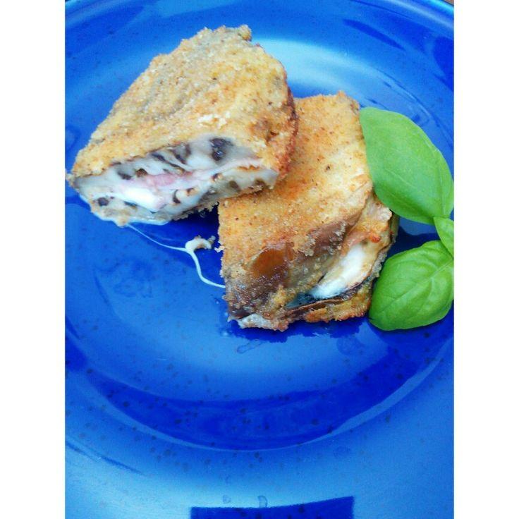Cordon bleu con melanzane grigliate