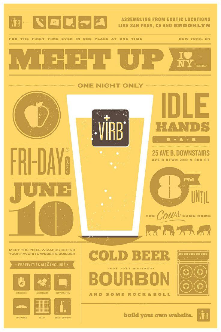 D d poster design - Clark Design Illustration Virb Meet Up Poster