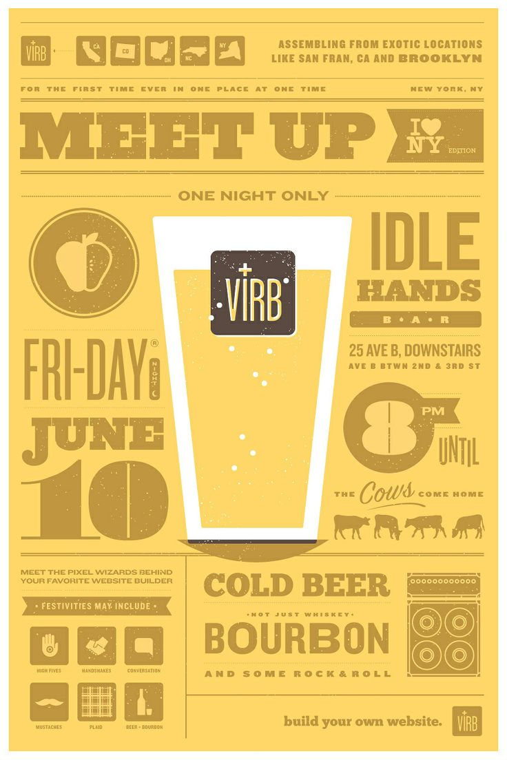 invitationMeetup Posters, White Spaces, Picture-Black Posters, Clark Posters, Graphics Design, Virb Meetup, Design Illustration, Ryan Clark, Virb Meeting Up