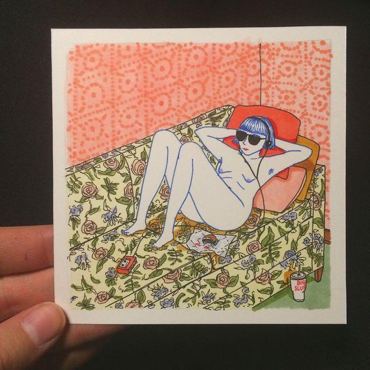 Ilustrações mostram hábitos comuns de quando ninguém está nos olhando