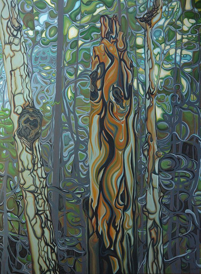 Landscape Painting - Three Sisters by Jan Lyons