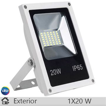 Proiector LED, alb, 20W, lumina calda, 3100k