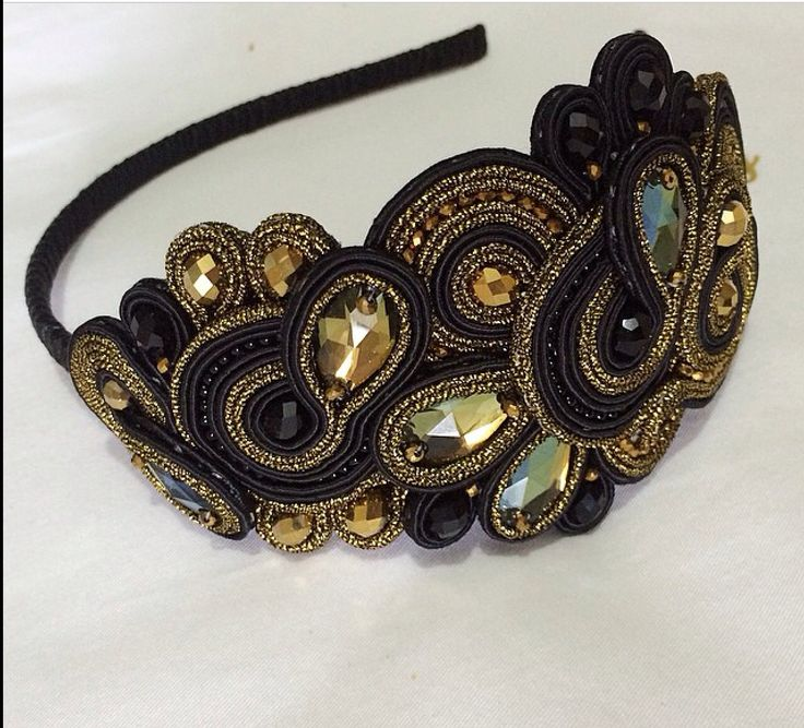 soutache hairband.