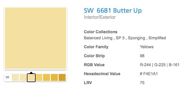 Sherwin Williams Butter Up My Sunroom And Bathroom Color