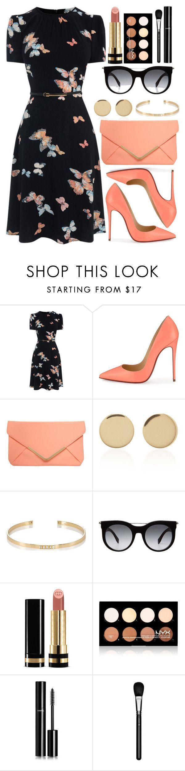 Untitled #4374 by natalyasidunova ❤️ liked on Polyvore featuring Christian Louboutin, Dorothy Perkins, Magdalena Frackowiak, Ileana Makri, Alexander McQueen, Gucci, NYX, Chanel and MAC Cosmetics #christianlouboutinflats