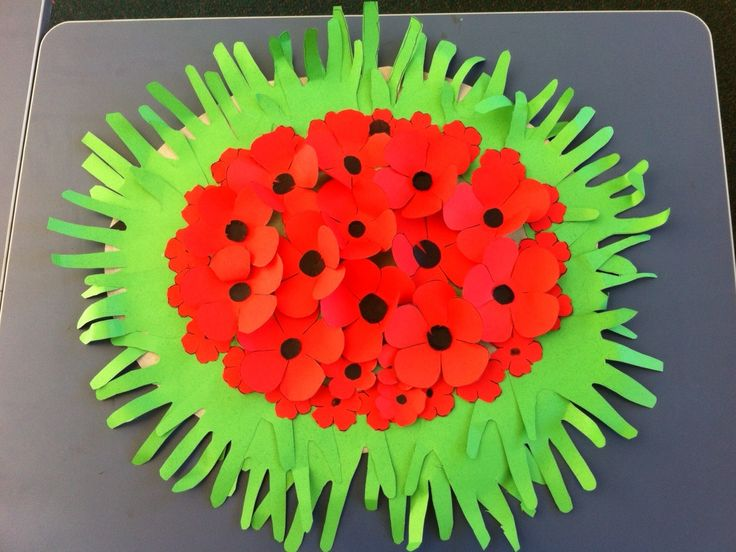 how to make anzac paper poppies