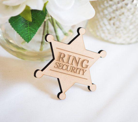 Ringer Bearer Gift Ring Security Badge Pin for Ring Bearer at Wedding - Ring Bearer Gift (Item - RNG100)