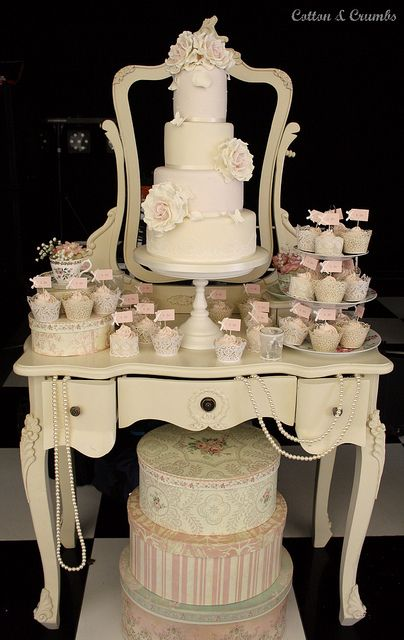 Amy & Marc's wedding - Park Hall Estate by Cotton and Crumbs, via Flickr  Amend to a Tea Party... :) !