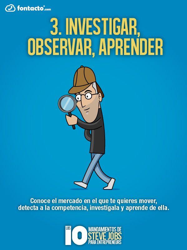3) Investigar, observar, aprender