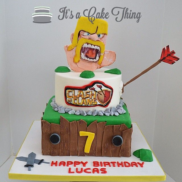... eat cake pastry dessert children projects forward clash of clans cake