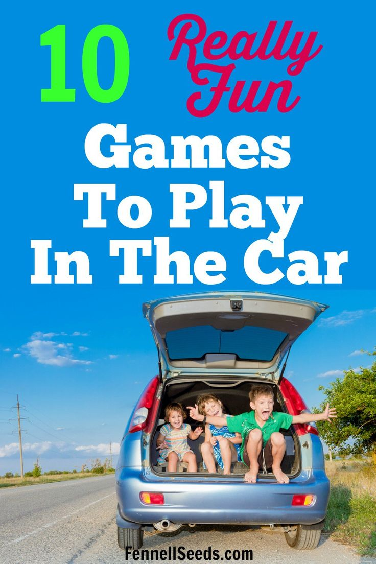 Traveling with kids? Here are fun games to play with kids in the car. Great road trip games for kids!