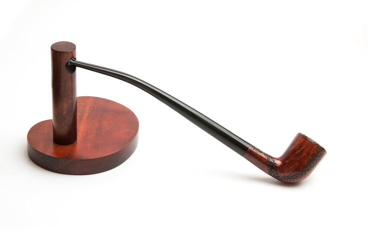 Briar Tobacco Pipe – Churchwarden Pipe – Briar Gandalf Pipe – Briar Wood Smoking Bowl Rusticated / B-day Gift for Father Boyfriend Men