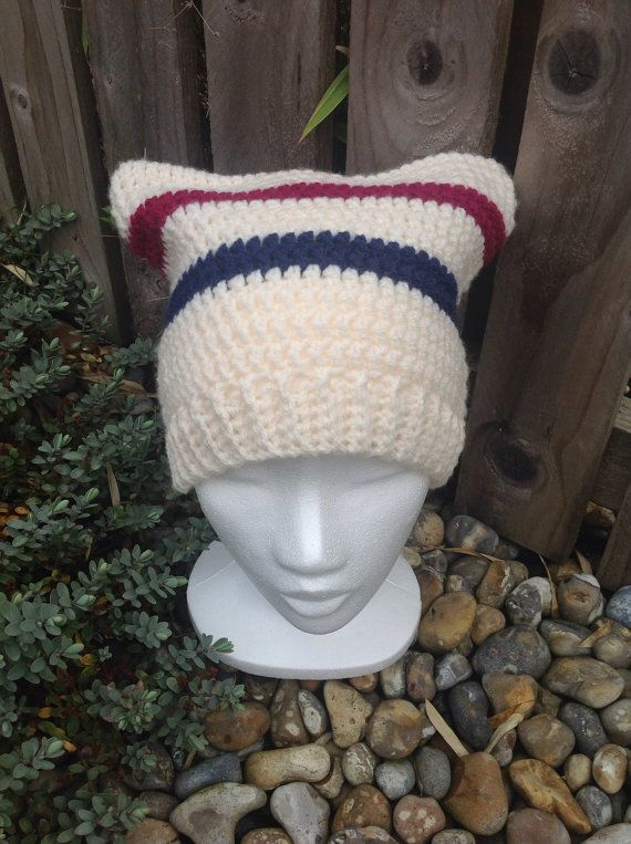 Unisex adult square hat woolly hat slouch hat by ChickFromLeeds