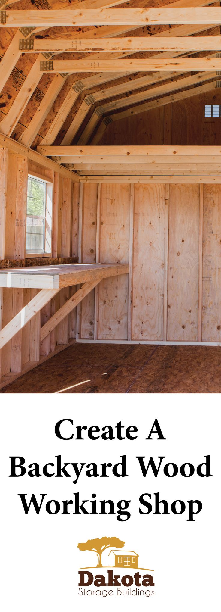 If you don't already have a wood shop, consider one of our three storage buildings - storage, porch, and garage. Each would make an excellent shop. More: http://www.dakotastorage.com/blog/ideas-for-creating-wood-workshop