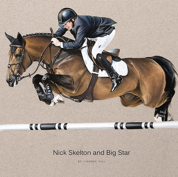 """Mi piace"": 68, commenti: 2 - Lindsay Hill (@lindsay_hill_artist) su Instagram: ""Exciting news!!! Nick Skelton will be on my stand next Friday @bolesworthint and following week…"""