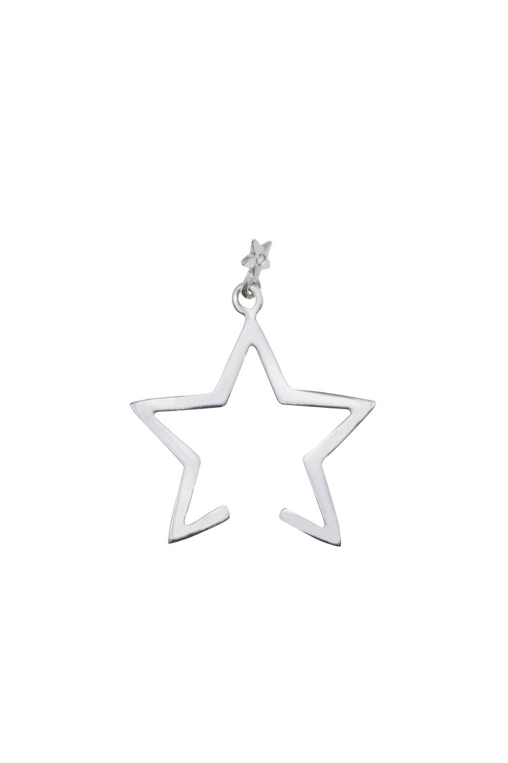 Diamond Falling Star Cuff Silver