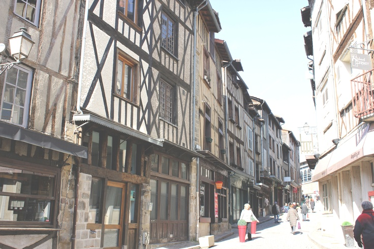 The beautiful town of Limoges, France