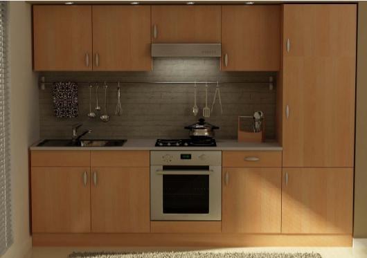 cucina da 270 faggio senza elettrodomestici in kit Art ...