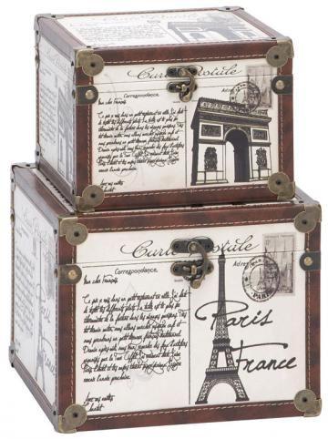 La France Boxes - Set of 2 - Decorative Boxes - Home Accents - Home Decor…