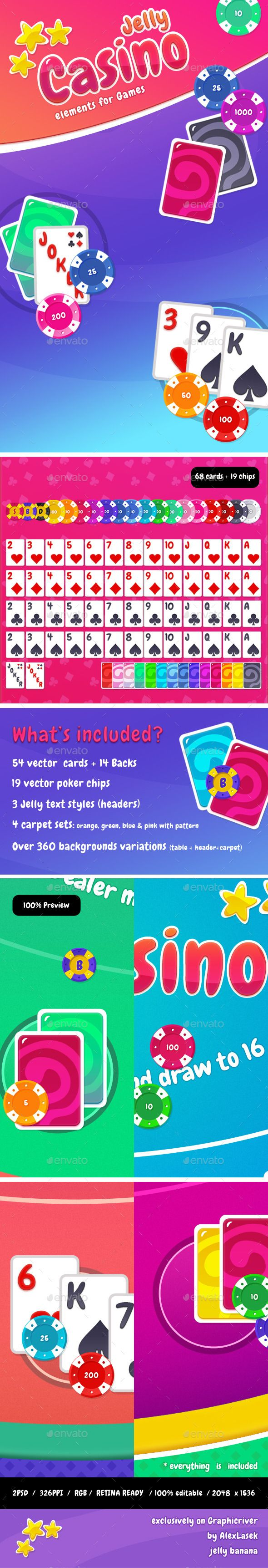 Cartoon Casino Card Games Kit — Photoshop PSD #iphone #chip • Available here → https://graphicriver.net/item/cartoon-casino-card-games-kit-/11051929?ref=pxcr