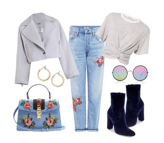 """""""Blossom"""" by kharismabelle on Polyvore featuring Steve Madden, Citizens of Humanity, Zimmermann, T By Alexander Wang, Nordstrom, Gucci and Sunday Somewhere"""