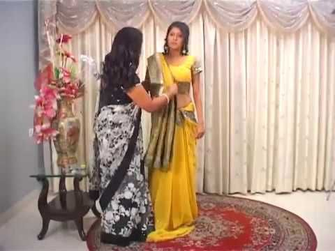 How to Wear Gujarati Style Saree - YouTube