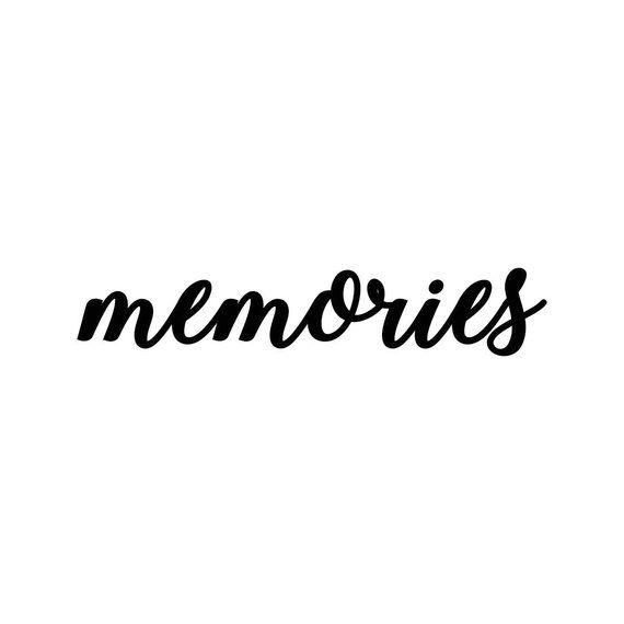 Instagram word. Memories letter phrase graphics