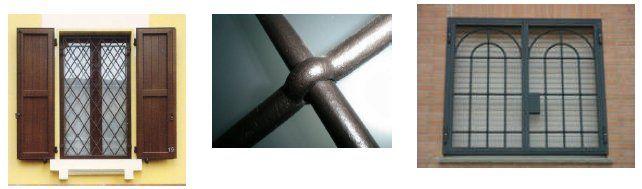 Le nostre grate sono realizzate con profili tubolari in acciaio, con diverse tipologie (occhio bottato, quadrotti, stile inglese, cortina, diagonali, a disegno) con piatti di battuta in ferro pieno...