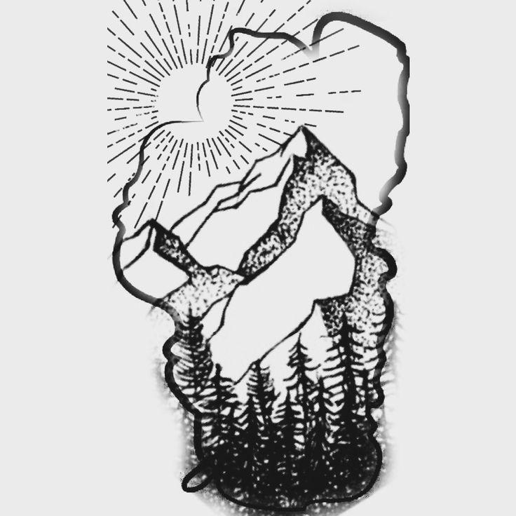 Possible tattoo of Lake Tahoe