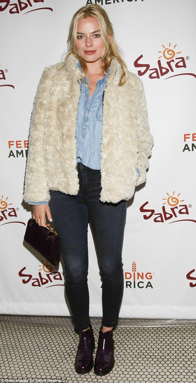 Radiant! Actress Margot Robbie at the Sabra Hummus Kickoff Party at Sundance Film Festival in Utah