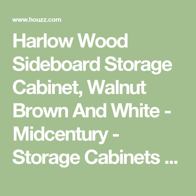 Harlow Wood Sideboard Storage Cabinet, Walnut Brown And White - Midcentury - Storage Cabinets - by Baxton Studio