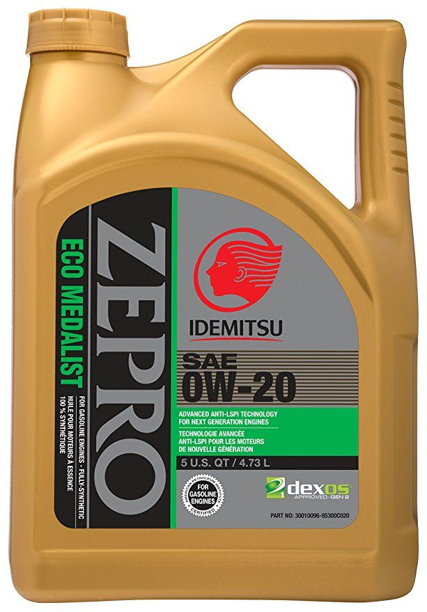 Zepro 30010096 95300c020 Eco Medalist 0w 20 Engine Oil 5 Quart