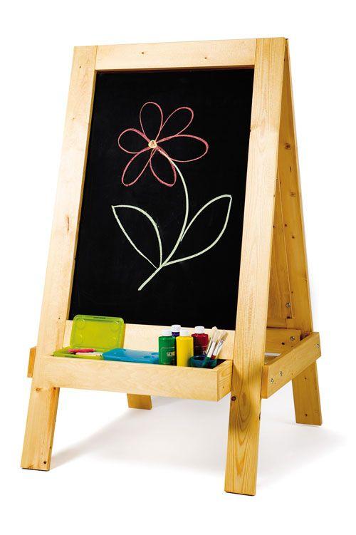 Art Easel For Kids Just Kidz In Standing Wooden Easel