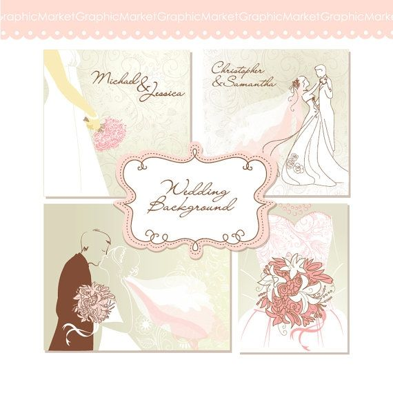 Wedding Digital Clip Art Card - Luvly Marketplace   Premium Design Resources #cards #digitalcards