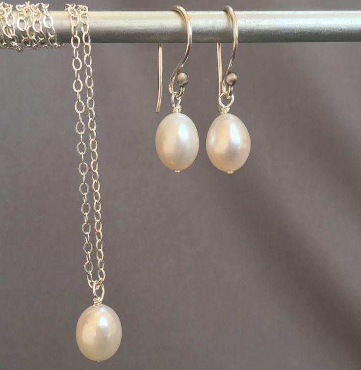 Bridesmaid Set - Wedding Jewelry - Pearl Jewelry Set - Girls Pearl Set - Pearl…