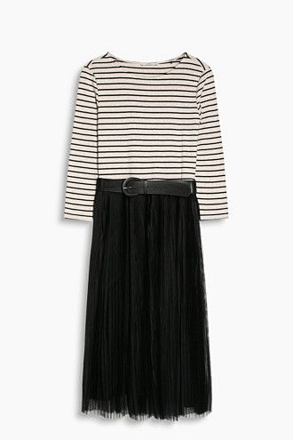 EDC / Geplisseerde jurk met ceintuur