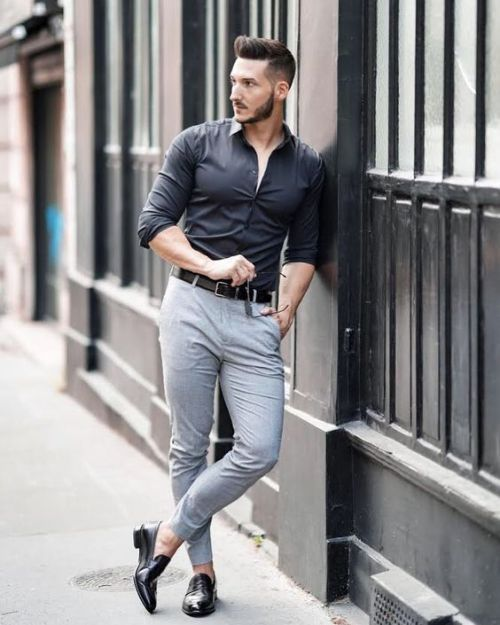 ce627f39870 Pin by bizpublicize on fashion style in 2019 | Mens fashion wear, Formal  men outfit, Black shirt outfit men