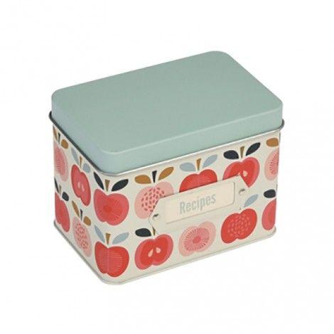 boites à recettes Vintage apples