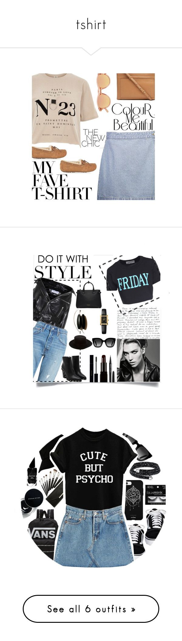 """tshirt"" by smillafrilla ❤ liked on Polyvore featuring Witchery, River Island, UGG, Chimi, MyFaveTshirt, Gucci, STONE ISLAND, Fifth & Ninth, Vans and Azature"