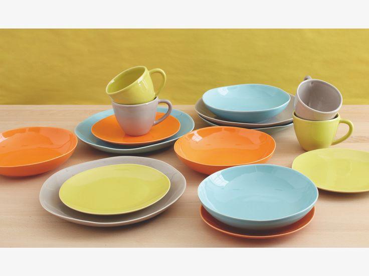 EVORA ORANGE Side plate - Dinnerware- HabitatUK
