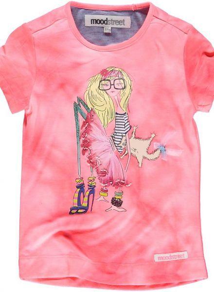 Moodstreet Moodstreet roze shirt met Ballerina