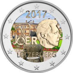 2 Ευρώ, Έγχρωμο, Λουξεμβούργο, 50η επέτειος του εθελοντισμού του στρατού, 2017
