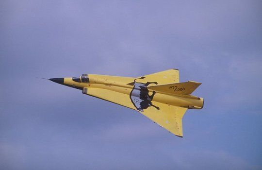 Saab 35 Draken, Swedish fighter jet aircraft. The first fully supersonic aircraft to be deployed in Western Europe