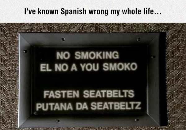 My Spanish is wrong, apparently
