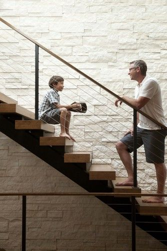 Linden Hills Contemporary - contemporary - staircase - minneapolis - Andrea Swan - Swan Architecture