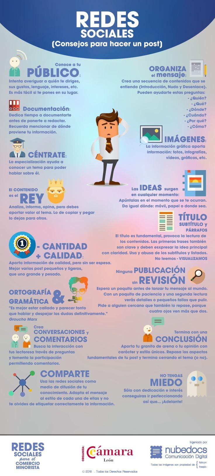 Consejos para hacer un post en redes sociales... #SocialMediaOP #SocialMedia #Marketing