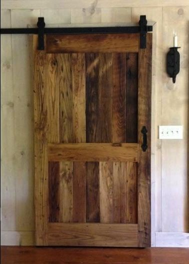 RLP Reclaimed Chestnut Sliding Barn Door With Flat Track Hardware Would  Love This If We Redid Our Master Bedroom, Use This For The Door To The  Bathroom :)